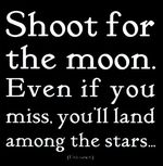 Shoot for moon