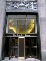 NY Times door