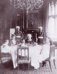 Queen Victoria dining