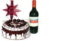 Cake with wine