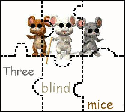 Three Blind Mice Coloring Page by Dan Olmsted