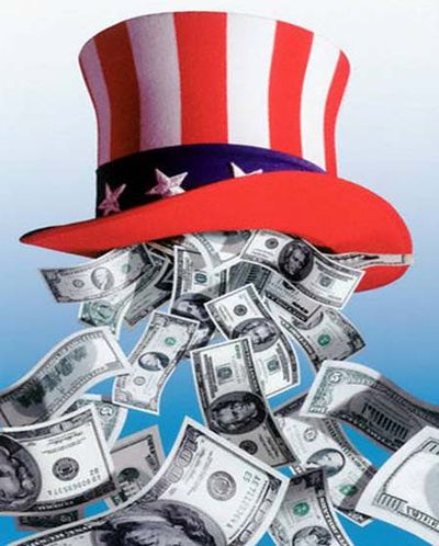 Uncle sam hat money