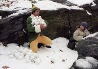 Buddy-and-Michael-in-a-snowball-fight