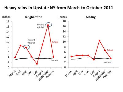 Leroy rainfall Albany Tics and toxins charts