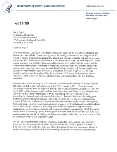 Francis Collins to Segal 5-9-12 (1)
