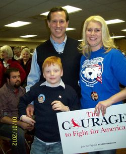 Sam and Santorum with Alison Dreke