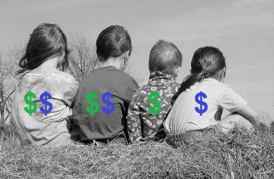 Money backs of children