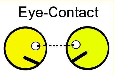 Eye contact symbol