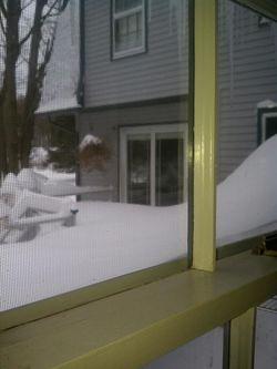 Deck snow'