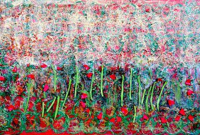 AWARD_WINNING_UN_STAMP_An_Abstract_Garden_II_acylic__mixed_media_36_x24_Trent_Altman