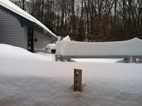 Snow yardstick
