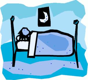 CJ blue bed