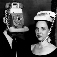 Retro phone fashion hats