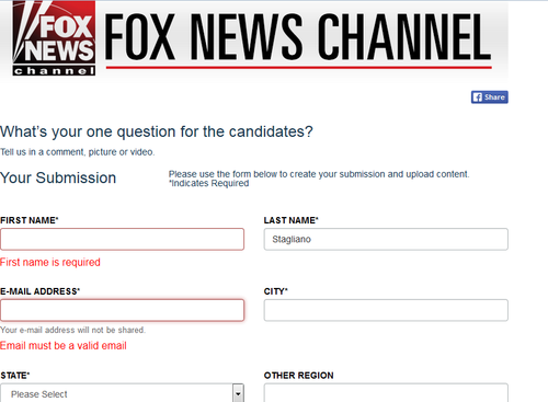 Debate Form Fox