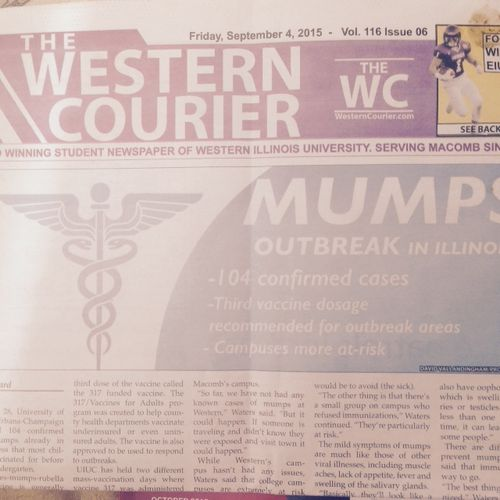 Mumps newspaper