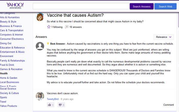AG Yahoo Vax Autism