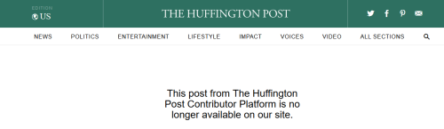 Huffpo removed