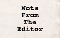Note from editor