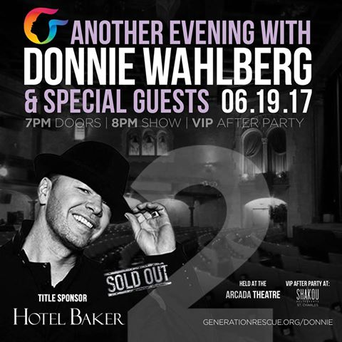 Donnie sold out event