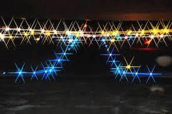 Blue taxi lights