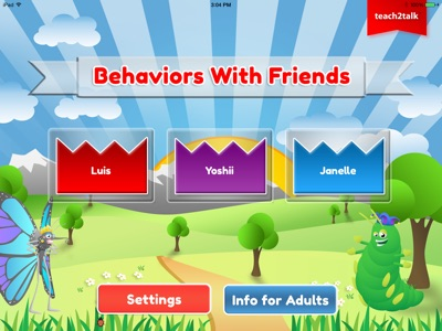 Behaviors-app-main-screen