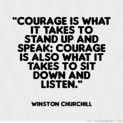 Courage sit Down