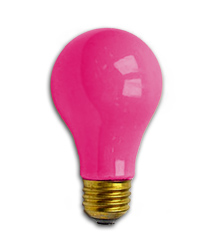 Pink lightbulb