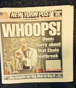 Ebola NY Post