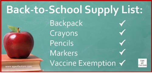 Back To School Vax Exemption