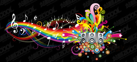 Fun-music-theme-vector-material-20504