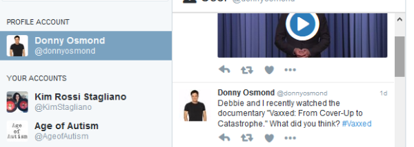 Donny Osmond Tweet