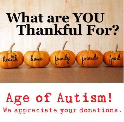 Thanks Age of Autism