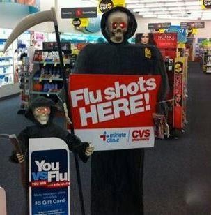 Flu shot halloween