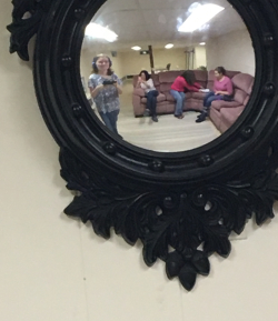 Girls in mirror