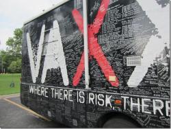 Vaxxed bus side