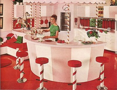 Retro holiday kitchen