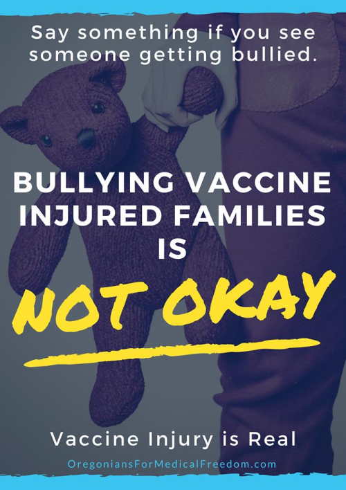 Bullying vaccine injured families