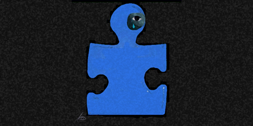 Puzzle piece black eye Adriana Gamondes