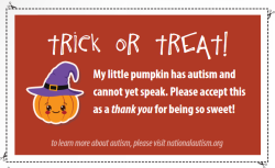 Trick or Treat NAA card