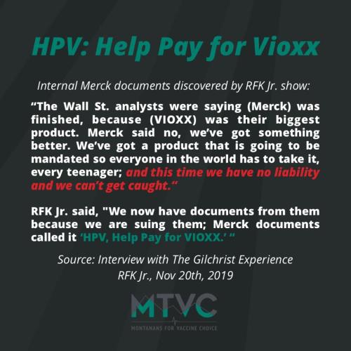 Merck HPV for Vioxx