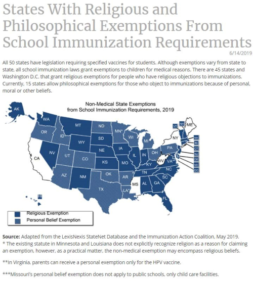 Exemptions map