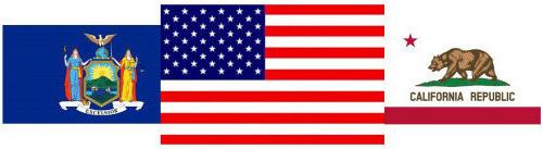 Ca USA flags