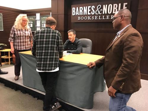 Joshua Coleman at Kimmel book signing