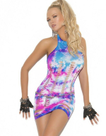 Sexy tie dyed dress