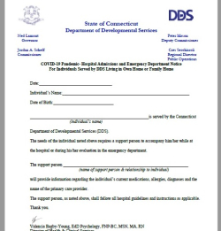 CT DDS Covid Letter
