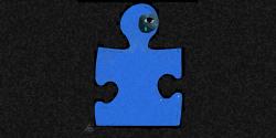 Puzzle piece black eye Adriana Gamondes