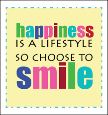 Happiness smile