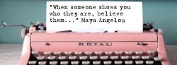 Pink typewriter When Someone