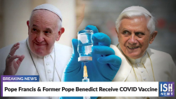 Popes receive vaccine