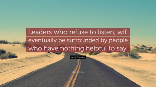 Refuse to listen